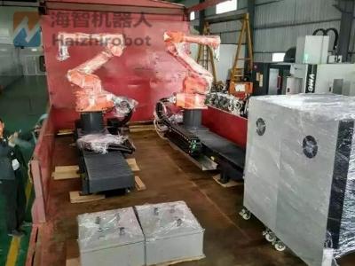 河南汽车配件厂订单-板簧喷漆机器人!