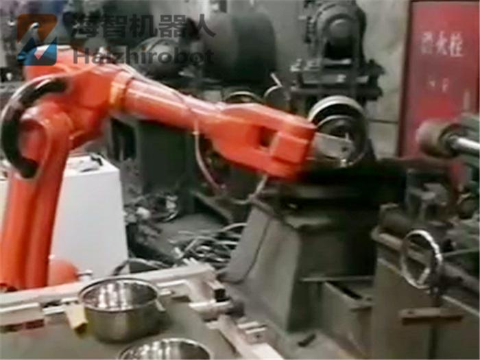 锅盆自动加工机械手上下料应用案例!(图1)