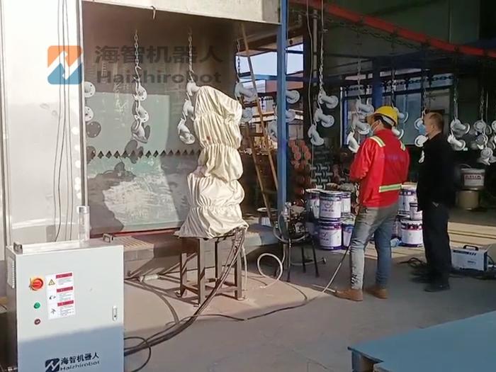 五金喷漆生产线 自动悬挂线机器人喷涂(图1)