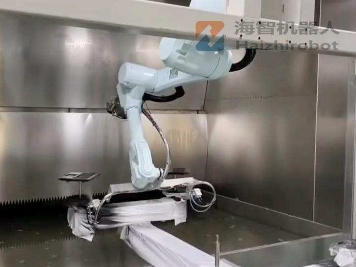 水簾櫃(gui)自(zi)動噴漆 噴涂設備(bei)機械手