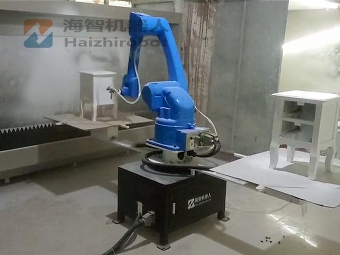 木柜、床头柜喷漆 喷漆室机器人设备(图1)