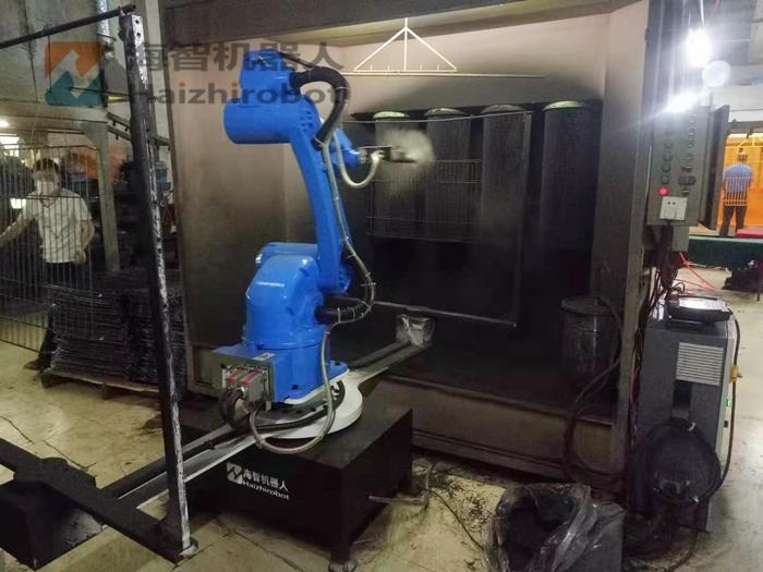 喷粉柜 五金喷塑机器人设备(宠物笼喷粉)(图1)